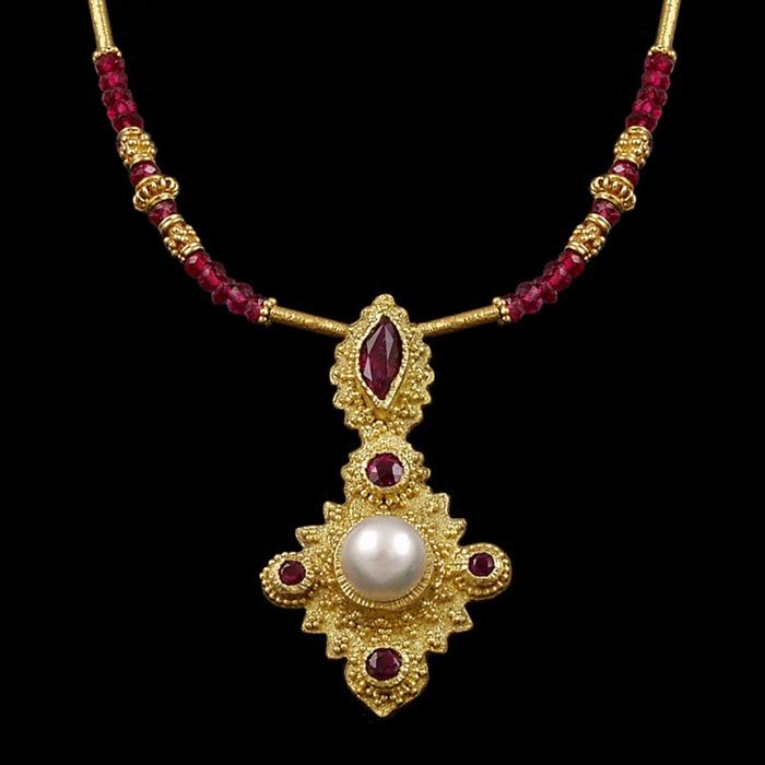 Pearl & Rubies in Granulation